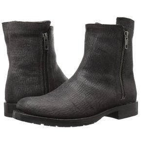 Frye Natalie Double Zip Rugged Leather Boot